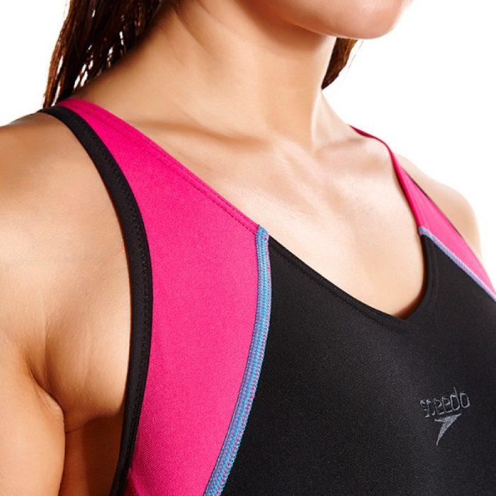 Speedo Fit Splice Muscleback Roze